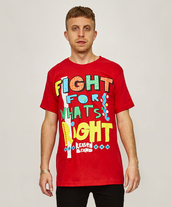 FIGHT FOR WHAT'S RIGHT TEE - RED