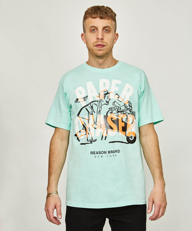 PAPER CHASER TEE - BLUE
