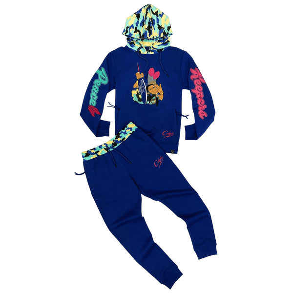 PEACE KEEPER PULLOVER JOGGER SET ROYAL