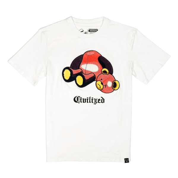 CIVILIZED BEAR TEE WHITE