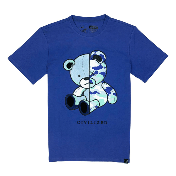 CIVILIZED CAMO BEAR TEE ROYAL