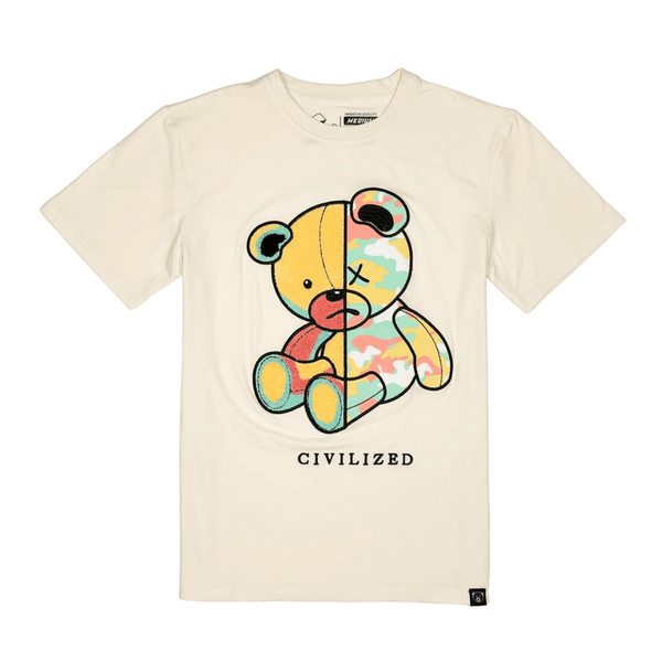 CIVILIZED CAMO BEAR TEE NATURAL