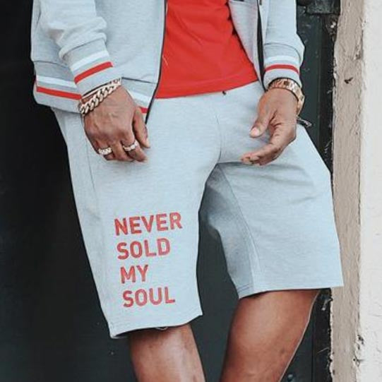 NEVER SOLD MY SOUL SWEAT SHORTS