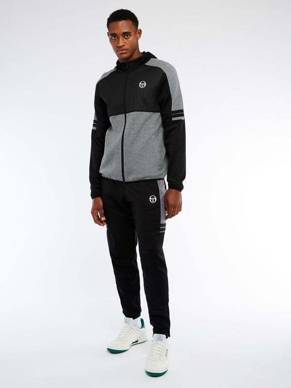 BEAL TRACK SUIT SET - BLK/DARK GRY