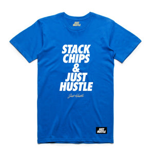 Stack Chips Tee Blue