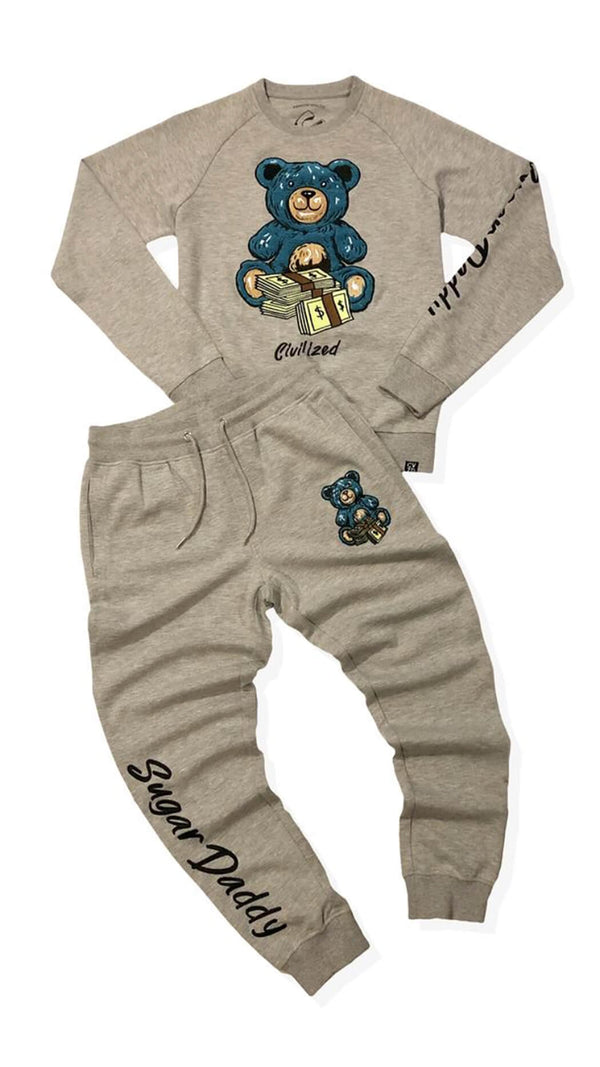SUGAR DADDY MONEY BEAR SET H. GREY