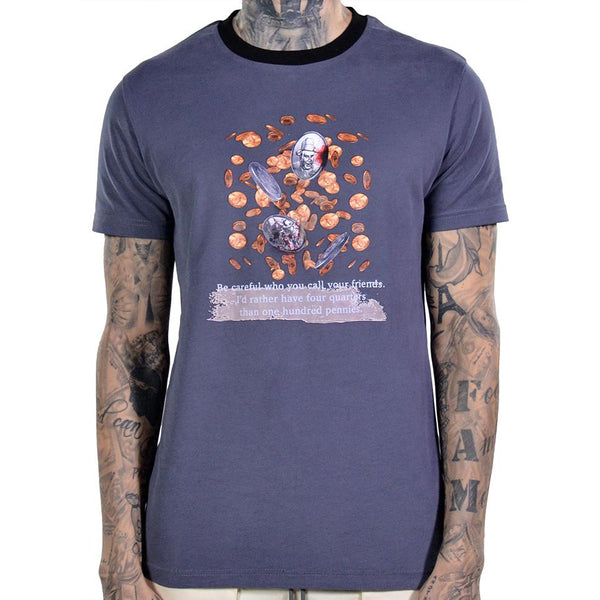 FOUR QUARTERS TEE MIDNIGHT GREY