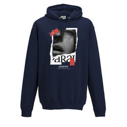TILL DEATH DO US PART HOODIE NVY/RED