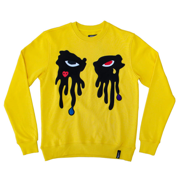 TEAR DRIPPING CREWNECK YELLOW