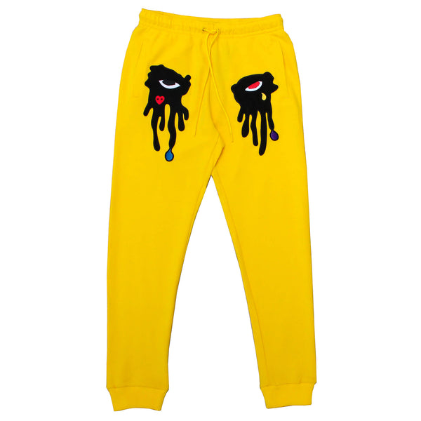 TEAR DRIPPING JOGGER YELLOW