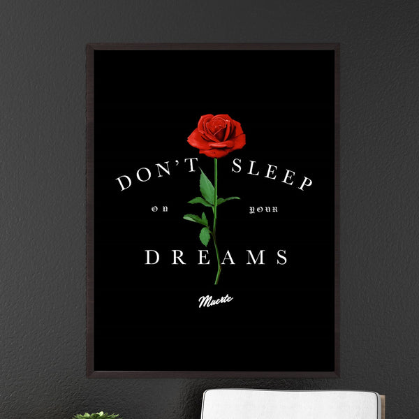 Don't Sleep On Your Dreams Canvas