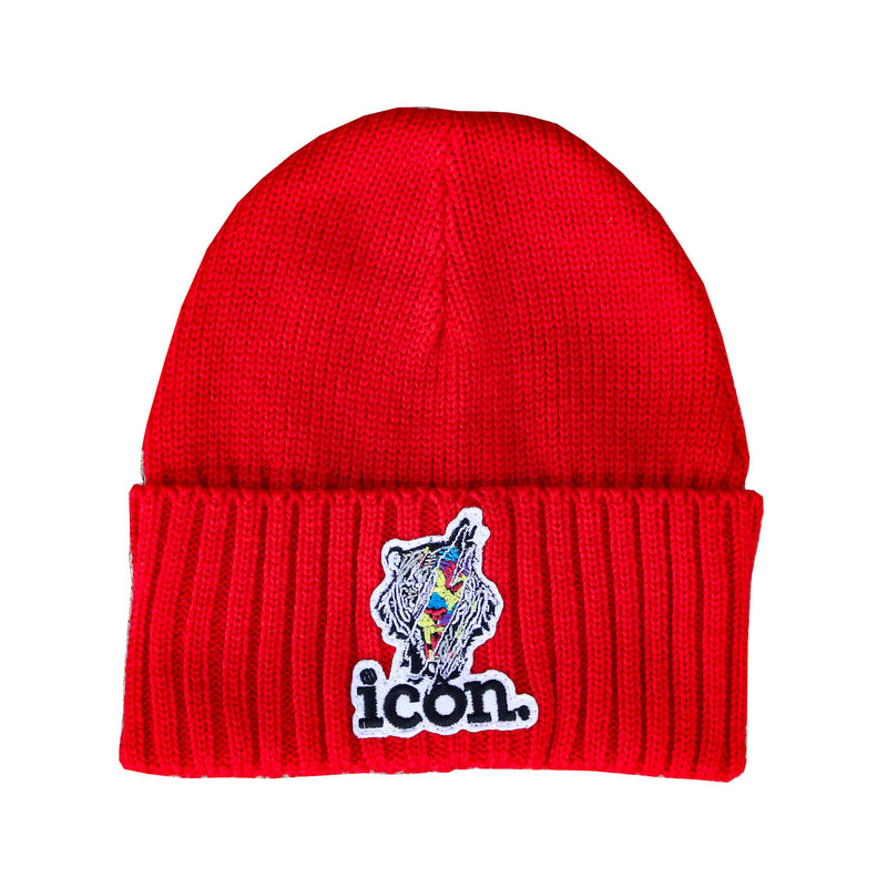 ICON CLAW BEANIE RED