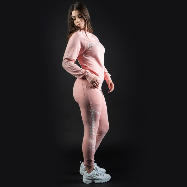 Get Money Script Joggers Women's - Pale Pink