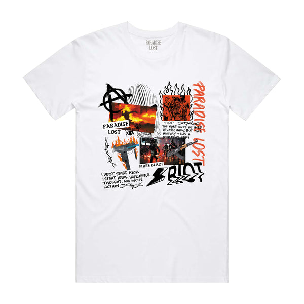 RIOT TEE WHT/RED
