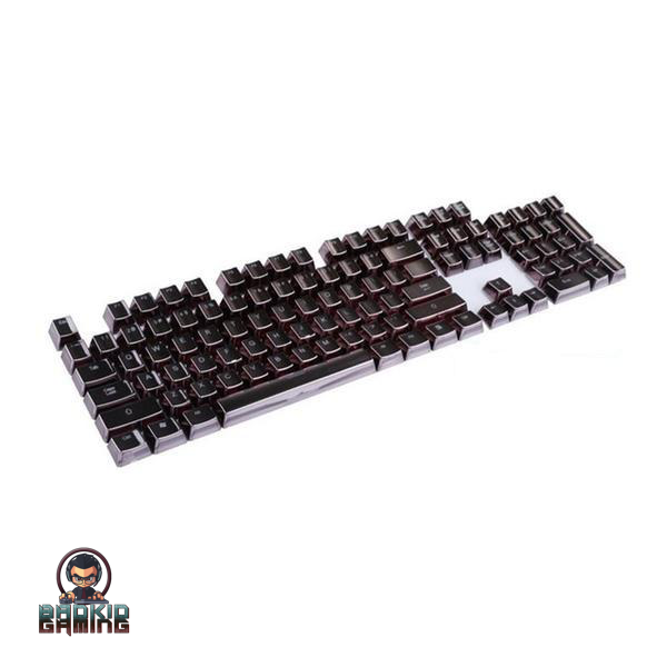 Complete 104 Standard Gold and Black Keyboard Keycaps - Bad Kid Spoored