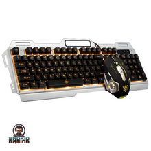 CERBERUS Pro Gaming Rainbow or Yellow LED Backlight Keyboard Combo - Bad Kid Sponsored