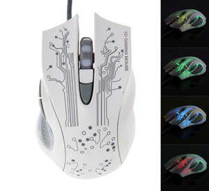DEMON Series Pro Gaming Ergonomic Mouse White Multicolor - Bad Kid Sponsored