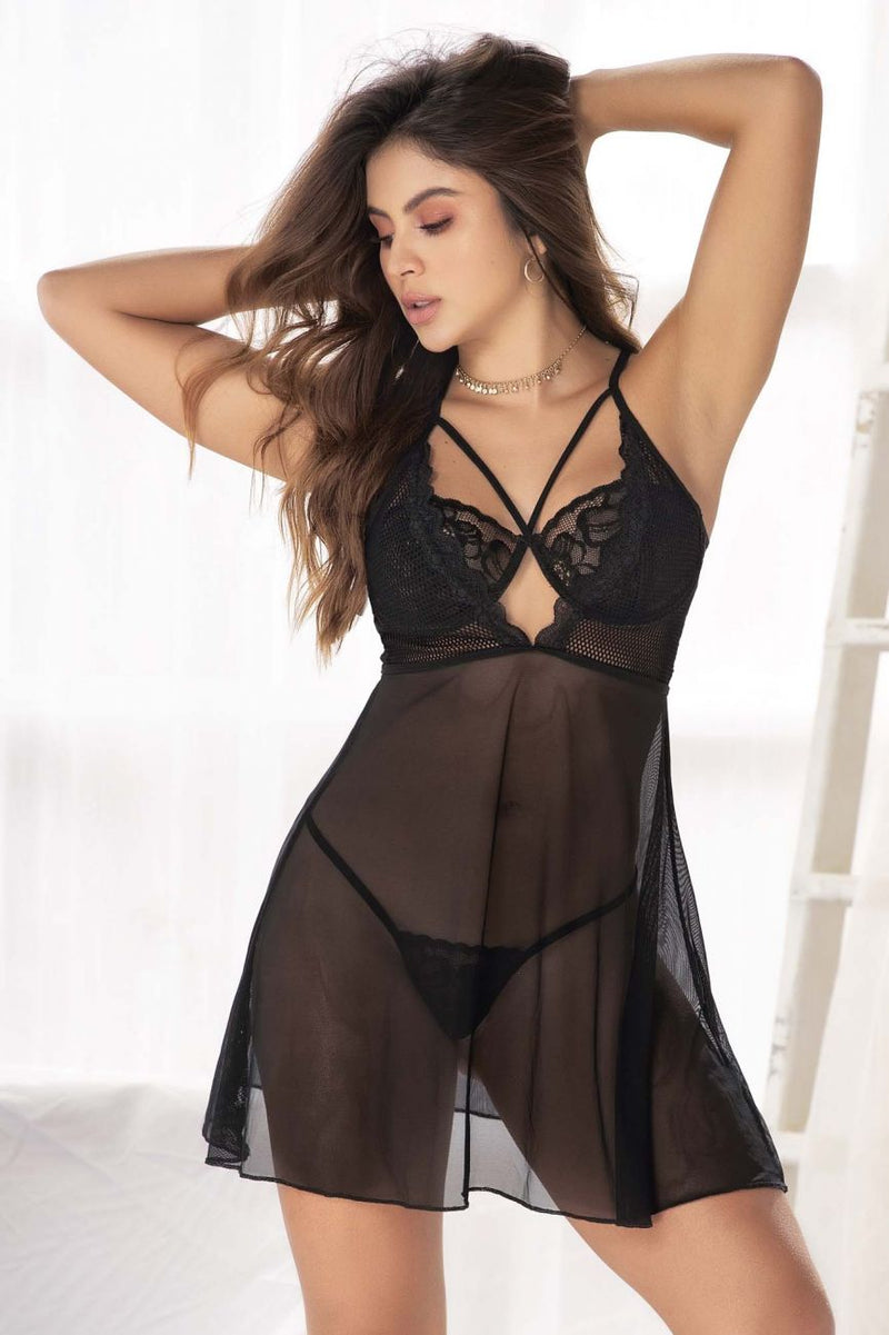 Babydoll With Underwire and Matching G-String