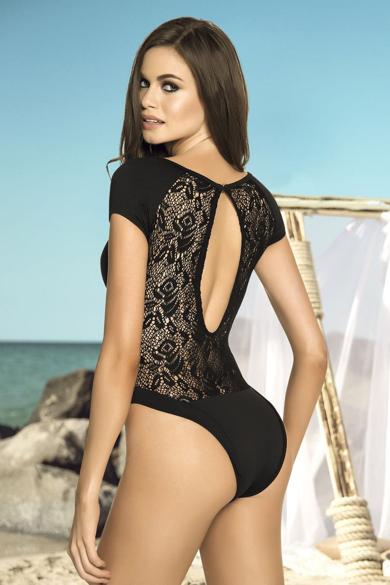One Piece Swimsuit with Back Netting