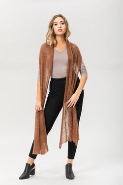 Fly With Me Shawl - Brunette