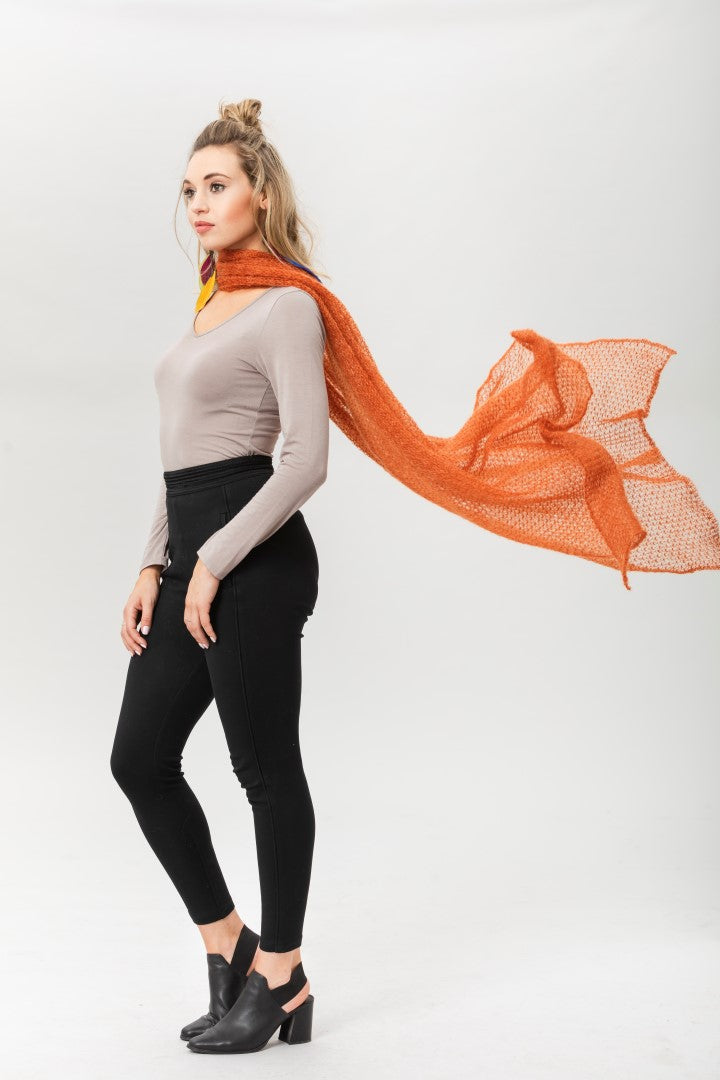 Fly With Me Shawl - Copper