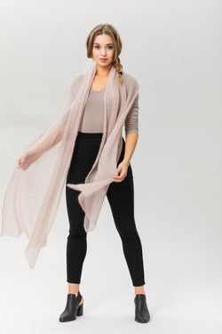 Fly With Me Shawl - Dove