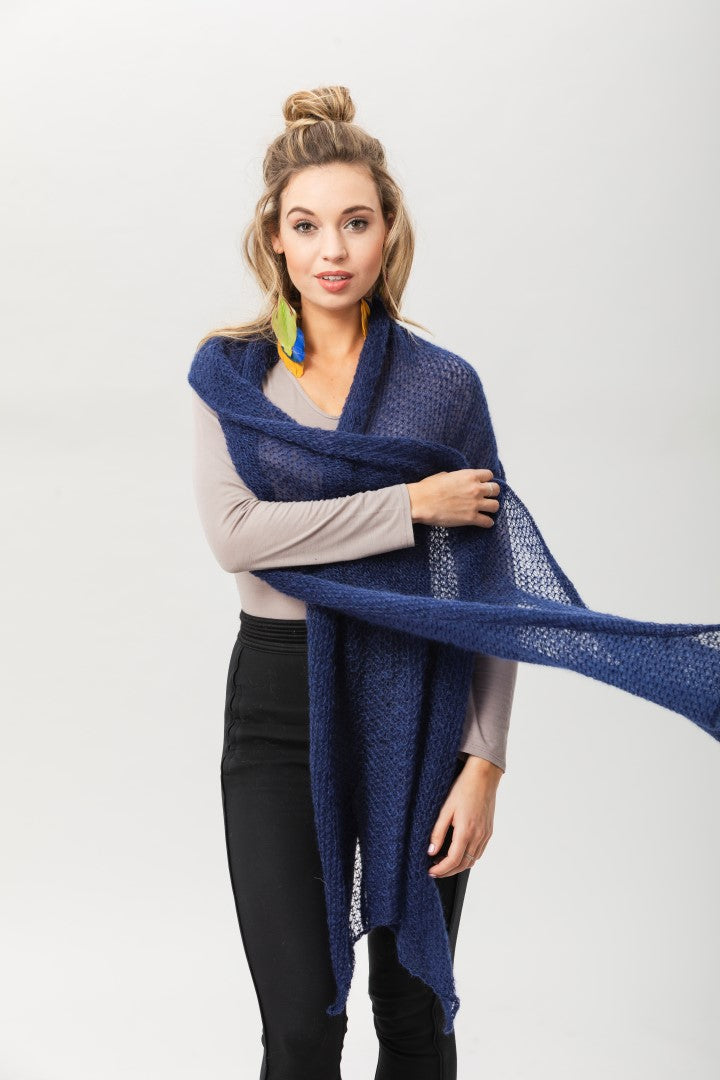 Fly With Me Shawl - Midnight