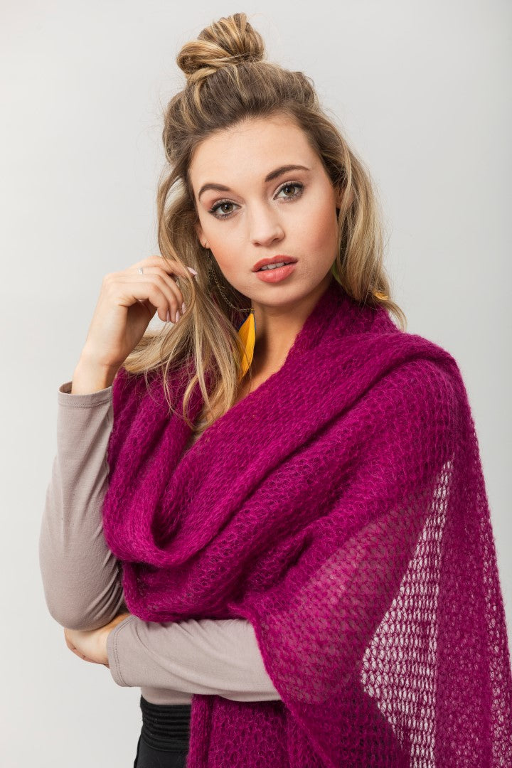 Fly With Me Shawl - Mulberry