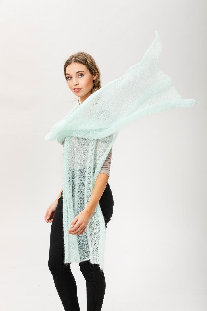 Fly With Me Shawl - Peppermint