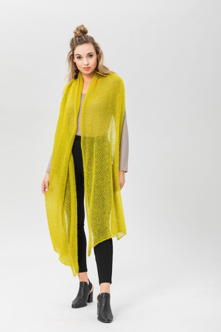 Fly With Me Shawl - Sulphur
