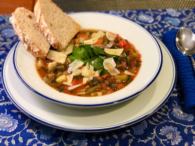 My Minestrone Soup with Yummiest No Knead Bread