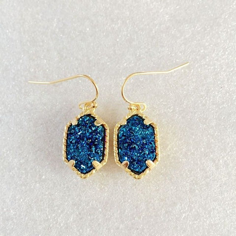 K Scott Inspired Druzy Resin Dangle Earring