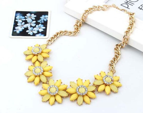 Large Sunflower Choker Necklace