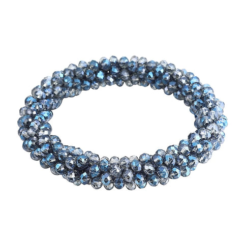 Elastic Crystal Glass Bead Bracelet - 17 Color Choices