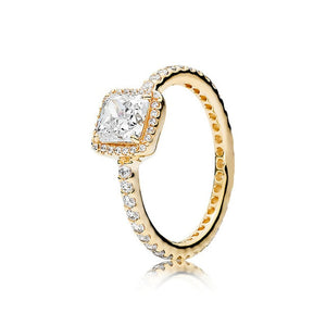 Elegance Ring Available in Yellow Gold, Rose Gold and Sterling Silver