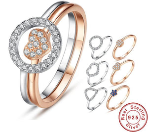 Ring within a Ring - Sterling and Rose Gold Plated
