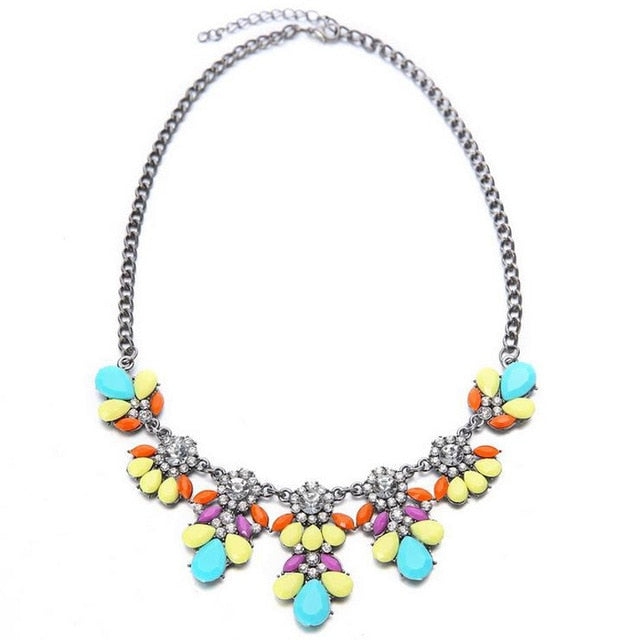 Spring Inspired Collar Necklace - 4 Color Choices