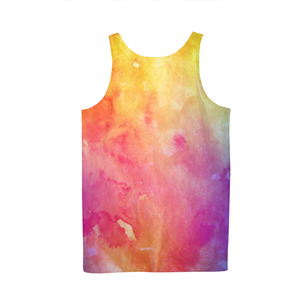 Water Paint Mens Tank Top