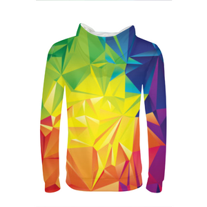Colorful Triangles Mens Hoodie
