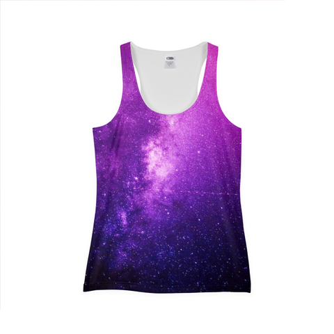PInk Galaxy Womens Tank Top