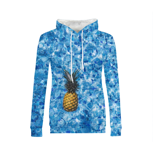 Pineapple Pool Womens Hoodie