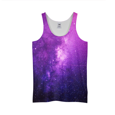 PInk Galaxy Mens Tank Top