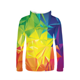 Colorful Triangles Womens Hoodie