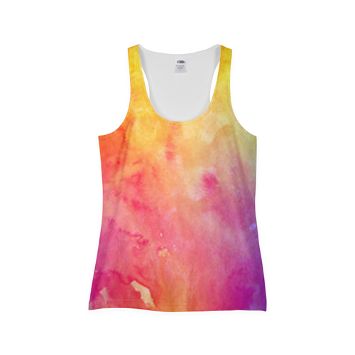Water Paint Womens Tank Top