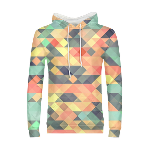 Colorful Triangle Mens Hoodie
