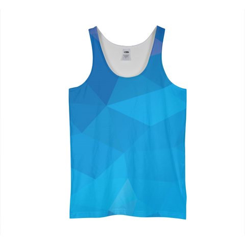 Blue Polygon Tank Top