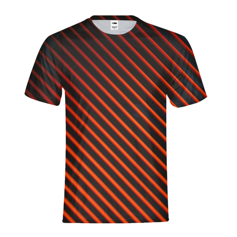 Red And Black Lines T-Shirt