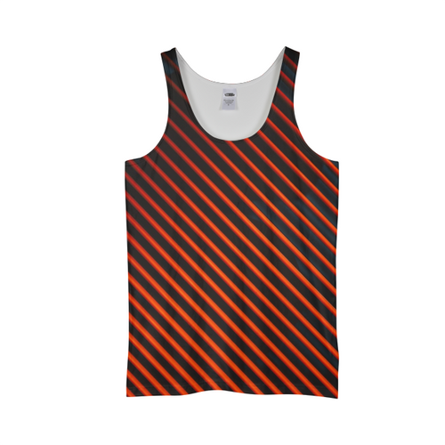 Red And Black Lines Tank Top