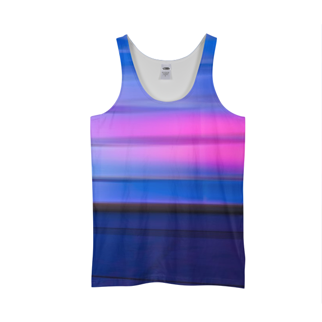Blue And Pink Tank Top