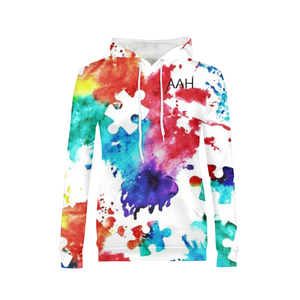 Colorful Autism Awareness Hoodie Women